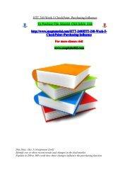 HTT 240 Week 5 CheckPoint Purchasing Influence/snaptutorial