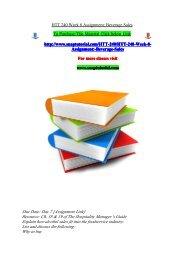 HTT 240 Week 8 Assignment Beverage Sales/snaptutorial