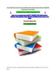 HTT 240 Week 9 Final Project Madison Metropolitan School District (MMSD) Food Service Case Study/snaptutorial
