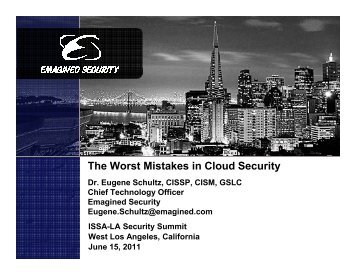 The Worst Mistakes in Cloud Security