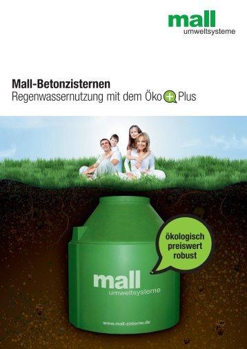Prospekt Regenwassernutzung - Mall GmbH