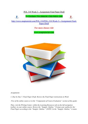 sci 207 final paper outline Psy 101 week 3 final paper and you will create an outline your final paper and an.