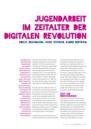 Jugendarbeit im Zeitalter der Digitalen Revolution