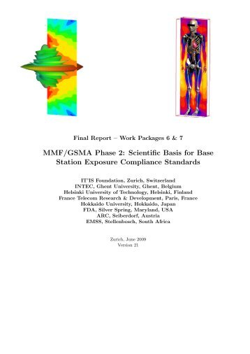 MMF/GSMA Phase 2 Scientific Basis for Base Station Exposure Compliance Standards