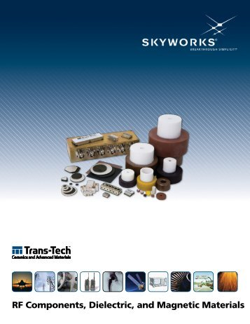 RF Components Dielectric and Magnetic Materials