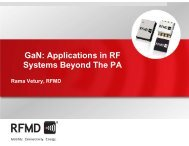 GaN: Applications in RF Systems Beyond The PA - RF Micro Devices