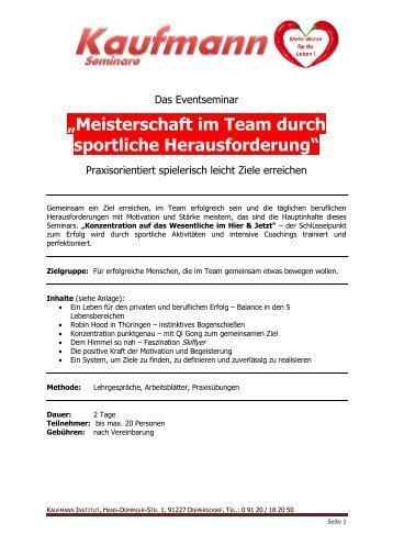 """""""Meisterschaft im Team durch sportliche Herausforderung"""""""