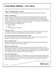 Clostridium Difficile – Fact Sheet