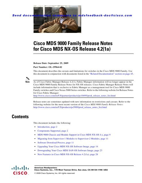 Cisco MDS 9000 Family Release Notes for Cisco MDS NX-OS - HP
