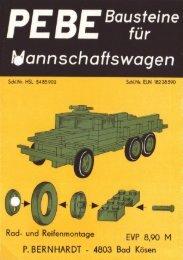 Bausteine für Mannschaftswagen - PEBE-Archiv
