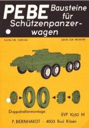 Bausteine für Schützenpanzerwagen - PEBE-Archiv