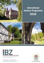 International Seminar Programme 2016