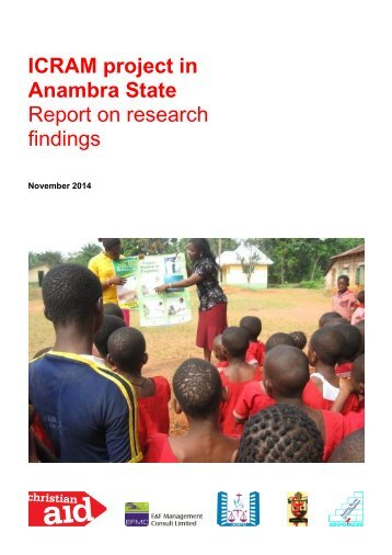 Anambra State Report on research findings