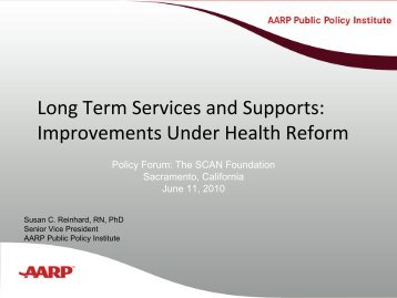 Long Term Services and Supports Improvements Under Health Reform