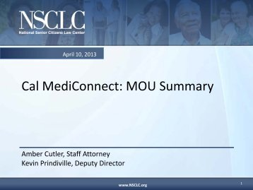 Cal MediConnect MOU Summary