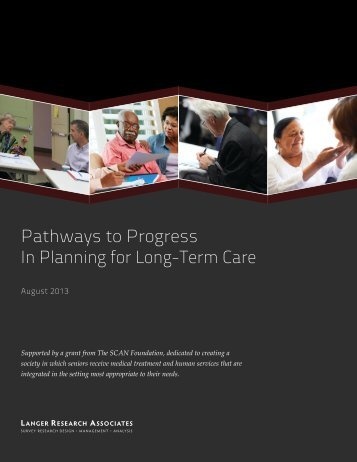 Pathways to Progress In Planning for Long-Term Care