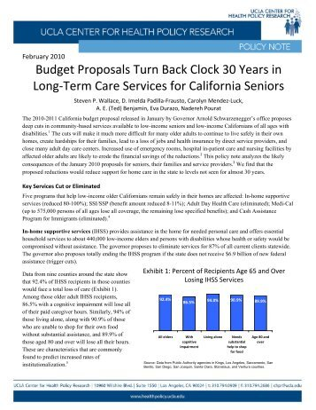 Budget Proposals Turn Back Clock 30 Years in Long-Term Care ...