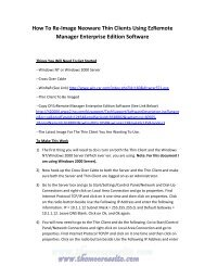 How To Re-Image Neoware Thin Clients Using ... - TheMooressite