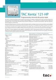 TAC Xenta® 121-HP