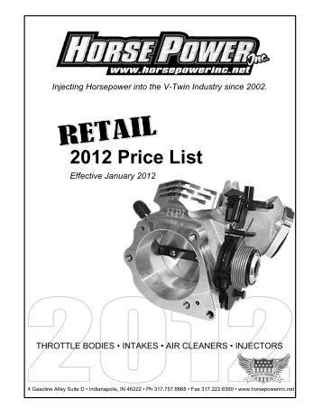 2012 Price List - Horsepower Inc