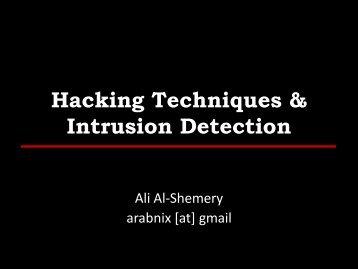 Intrusion Detection