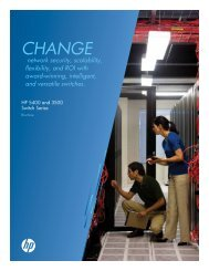 HP ProCurve Switch 3500 Series data sheet - 1stAdvance com