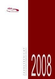 Jahresbericht 2008 - Deutsches Netzwerk Evidenzbasierte Medizin eV
