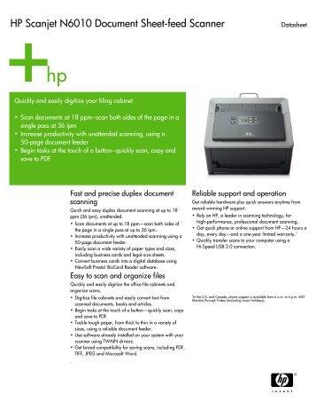 hp scanjet enterprise 9000 sheet feed scanner product rh yumpu com