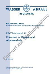 Entwurf zur Stellungnahme REGELWERK WASSER ABFALL ...