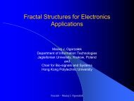 Fractal Structures for Electronics Applications