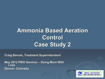 Ammonia Based Aeration Control Case Study 2