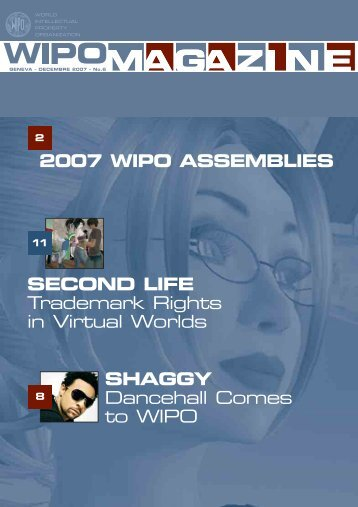SECOND LIFE Trademark Rights in Virtual Worlds 2007 WIPO ...