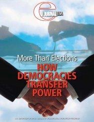 DEMOCRACIES TRANSFER POWER