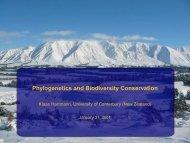 Phylogenetics and Biodiversity Conservation
