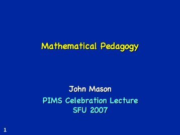 Mathematical Pedagogy