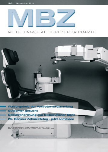 MBZ Ausgabe 11/2010 - Zahnärztekammer Berlin