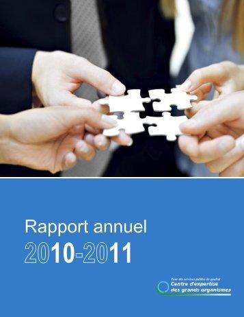 Lire le rapport - Centre d'expertise des grands organismes