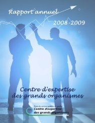 2008/09 - Centre d'expertise des grands organismes