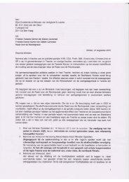 Brief aan Minister Van der Steur m.b.t. Rechtbank Almelo