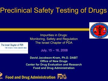 Preclinical i l Safety Testing of Drugs