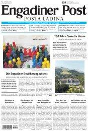 Engadiner Post Nr. 118 vom 06. Oktober 2012