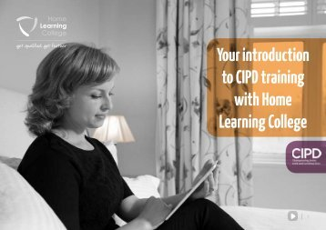 Your introduction to CIPD training with Home Learning College