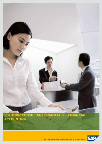 SOLUTION CONSULTANT FINANCIALS - FINANCIAL ACCOUNTING