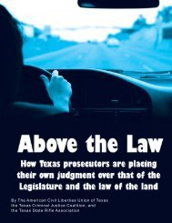 Above the Law - American Civil Liberties Union (ACLU) of Texas