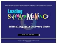 Scheduling Agile Delivery Dates