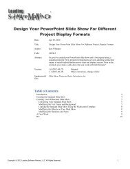 Design Your PowerPoint Slide Show For Different Project Display Formats