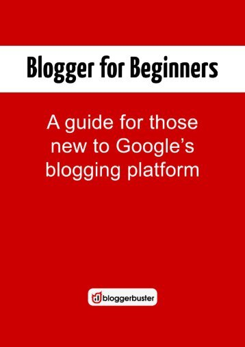Blogger for Beginners