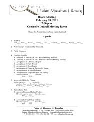 Board Meeting February 28 2011 7:00 p.m Consuello Luttrell Meeting Room