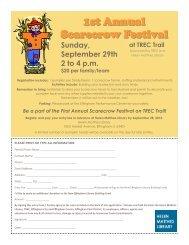 1st Annual Scarecrow Festival
