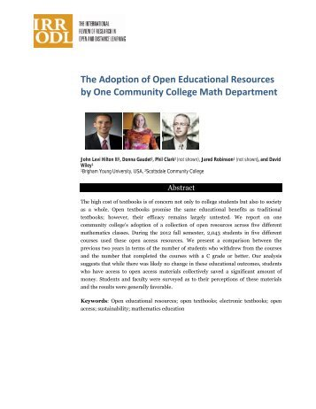 Print this article - The International Review of Research in Open and ...